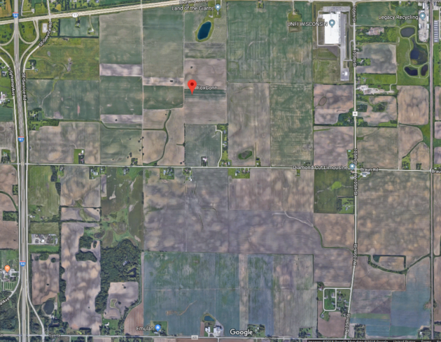 Google Maps satellite image of Foxconn site