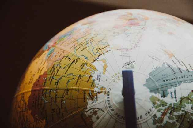 desk globe on shallow focus lens